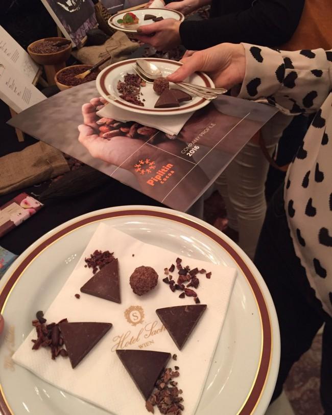Schokoladeverkostung
